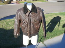 Distressed Thrashed Torn Leather Bombers Coat Jacket Sz  Sm Med ? Needs Repair
