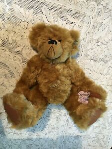 annette funicello Brown  jointed bear 14 Inch Teddy Bear Plush With Tags