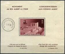 Belgium 1938 SG#MS809 King Albert Memorial Fund MH/Cto Used M/S #D61574