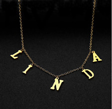 Personalized Initial Letter Name Necklace Pendant Choker Custom Women Jewelry
