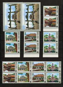 (YYAZ 613) Vietnam 1990 IMPERF + Perf MNH Mi 2126 -29 Sc 2063 -66 Architecture