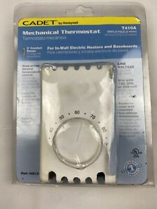 NEW Cadet Mechanical Thermostat Honeywell T410B Wall Mount Single Pole 2 Wires