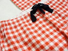 J.CREW GINGHAM FLANNEL PAJAMA PANT S Small Red Plaid PJ Sleep Bottoms Lounge NEW