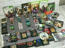Huge Lot Of 60 Vintage Video Games- Nintendo NES, ATARI, XBOX 360, PS2, GAMECUBE