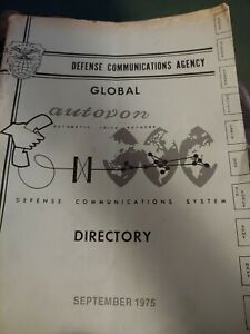 Defense Communications Agency Global Autovon Directory September 1975