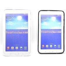 Funda Silicona Samsung Galaxy Tab3  7.0 Lite Funda Protectora TPU Blanco Negro