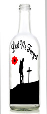 Vinyl Decal Sticker for Wine bottle lest we forget soldier army remembrance