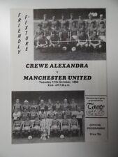 More details for crewe alex. v manchester united | 1983/84 | friendly | 11 oct 1983 | uk freepost