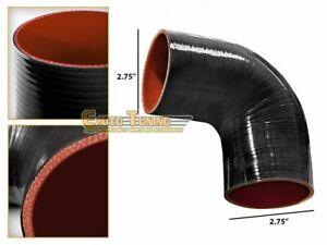 "2.75"" Silicone Hose/Intake/Intercooler Pipe Elbow Coupler BLACK For Volkswagen"