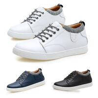Hot Men Elevator Shoes Ventilate Lining Sneakers Outdoor Hidden Elevator Shoes