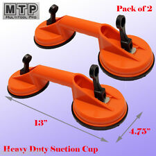 """2X  4-5/8"""" Double Suction Cup Dent Puller Lifer Glass Remover Body Repair Stone"""