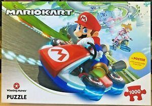 Nintendo-Mario Kart-1000 Piece Jigsaw Puzzle + Poster-Winning Moves-Family-Game