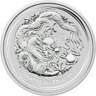 2012 1/2 Oz Silver 50 Cents Australia LUNAR YEAR OF THE DRAGON BU Coin.