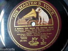 """78rpm 12"""" REGINALD FOORT - new victoria theatre organ MUSICAL TRIP c 2077"""