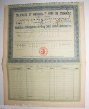 Certificat d obligation : Tramways et Omnibus F. Pons de Toulouse ( 447 )