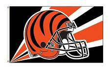 Cincinati Bengals 3' x 5' Official Nfl Premium Flag W/Grommets Banner 1-Sided