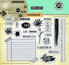 HERO ARTS CLING RUBBER Stamps NOTEBOOK STAMP YOUR STORY Huge Set Go Your Own Way