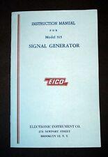 EICO Model 315 Signal Generator  Instruction Manual