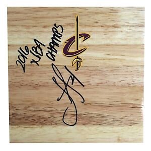 Iman Shumpert Cleveland Cavaliers Autograph Signed Basketball Floor Board Proof
