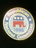 Collectible Vintage Republican National Convention 1996 Colorful Metal Pinback