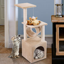 """New listing 36"""" Cat Tree Condo Furniture Play Toy Kitten Pet House Scratch Post Tower Beige"""