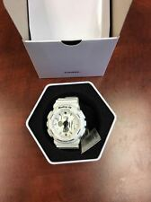 BABY-G WHITE BA120SP-7A  SCRATCHED GREY PATTERN DIAL