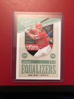 2019 Panini Learher & Lumber Mike Trout Equalizers EQ-4
