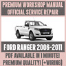 WORKSHOP MANUAL SERVICE & REPAIR GUIDE for FORD RANGER 2006-2011 +WIRING