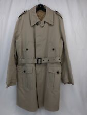 NWT DOLCE & GABBANA BEIGE COTTON BUTTON ZIPPER TRENCH EPAULET COAT 52 ITALY