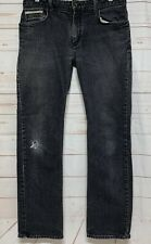 Vans Off the Wall Mens Custom Made for You Gray Distressed Jeans Size 32 X 30