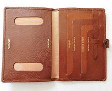 Vintage cover for OLD British UK passport English leather holder travel wallet