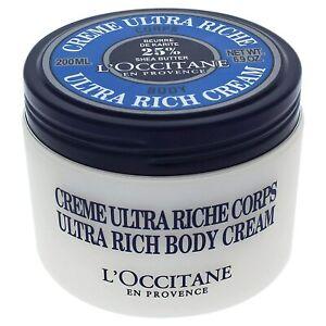 L'OCCITANE Ultra Rich Body Cream with 25% Shea Butter 200ml/6.9 oz NEW, Sealed