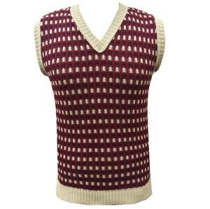 New Mens Vtg style 1930's 40's Wartime Fair isle knitted slip over Tank Top