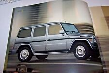 2004 Mercedes g class g500 g55 amg g wagon owners sales brochure new original