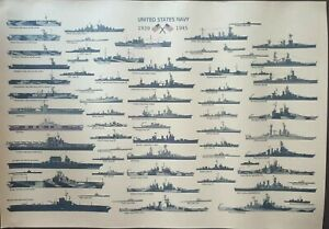 United States Navy 1939- 1945 Poster