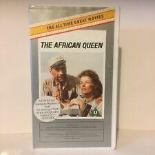 The African Queen VHS Video Tape Katharine Hepburn, Humphrey Bogart, Classic Mov