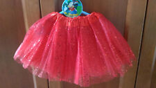 Tutu elastico brillante Rojo para niñas fiesta disfraz Ballet danza 22-36 cms
