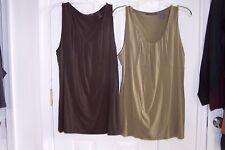 Womens Liz Claiborne Large Brown Sleeveless Blouse  Green SOLD!!!