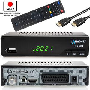 HD Sat Receiver PVR Ready mit Aufnahmefunktion Anadol 888 DVB-S2 HDMI SCART USB