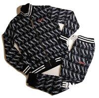 Le Tigre men 2p set 100%AUTHENTIC Track Jacket & Pants size Medium multicolor