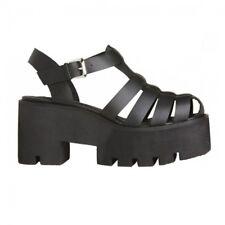 Windsor Smith Fluffy Leather Sandali con Cinturino alla Caviglia Donna Nero 3