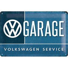 PLAQUE EN METAL EMAILLEE NEUVE 20 X 30 cm : VW VOLKWAGEN ENSEIGNE DE GARAGE