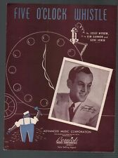 Five O'Clock Whistle 1940 Glenn Miller Sheet Music
