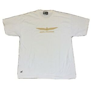 Honda Collection Gold Wing Motorcycle Short Sleeve White T-Shirt Size XL