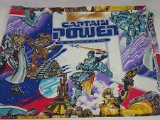 Captain Power Vintage Flat Twin Bed Sheet 1987 TV Cartoon Bedding Material