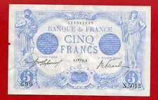 (B 14) 5 FRANCS BLEU AVRIL 1915 ( RARE) SUP