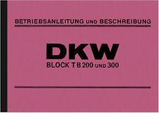 DKW Block 200/300 (B 200/300) Bedienungsanleitung Betriebsanleitung Handbuch
