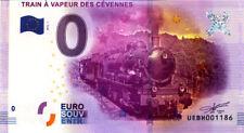 30 ANDUZE Train à vapeur des Cévennes, 2016, Billet 0 € Souvenir