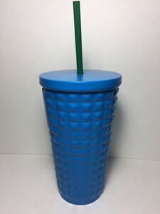 Starbucks Matte Blue Stainless Steel Chisled Cold Cup 16 oz Double Wall Tumbler