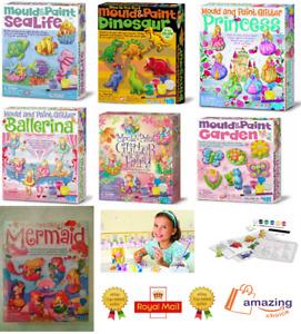 Mould & Paint Garden Art & Craft Fridge Magnets Badge Making Kit Kids Gift✅